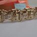 """Дизайнерский литьевой браслет """"Baraka"""" из жёлтого золота с бриллиантами"""