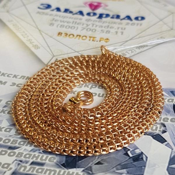 """Цепь """"Фараон"""" из красного золота с замком бабочкой"""