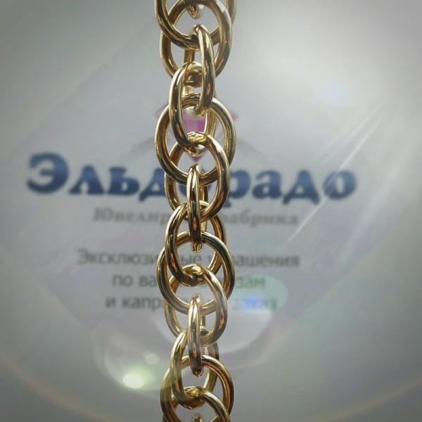Эксклюзивный женский браслет из жёлтого золота с замком-бабочкой