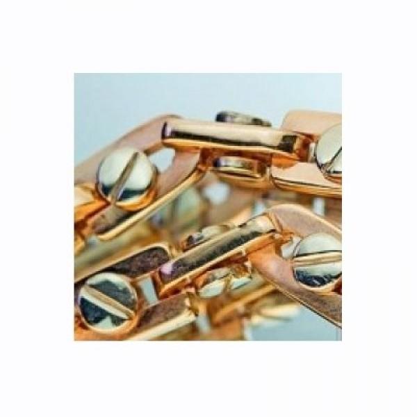 Цепочка из комбинированного золота